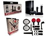 Vierra ULTIMATE Accessory Bundle for Sony PS3 Move - Includes Sports Starter Pack AND Dual Controller Charging Station.