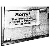 Bild auf Leinwand Banksy Graffiti Art Nr-734978 XXL Wandbilder und Kunstdrucke auf Leinwand Bilder fertig gerahmt auf Holzrahmen - GRÖSSE WÄHLBAR !! kein Poster oder Plakat / Günstiger als Ölbild Gemälde / Leinwanddruck, Keilrahmenbilder (Bild - 70x50cm)