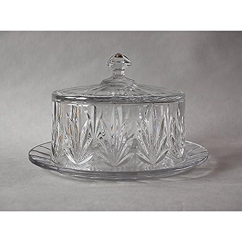 Butter Jar Imperial 23cm, transparent, lead crystal, (GERMAN CRYSTAL powered