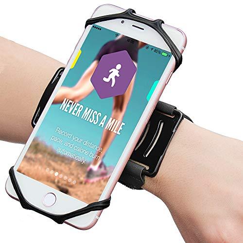Matone Fascia da Braccio Sportiva, Porta Cellulare Armband da Polso con Rotazione di 180° Universale per iPhone 11 Pro Max XS Max XR 8 7, Samsung S8 S9, Huawei, Xiaomi per Corsa Running Jogg (Nero)