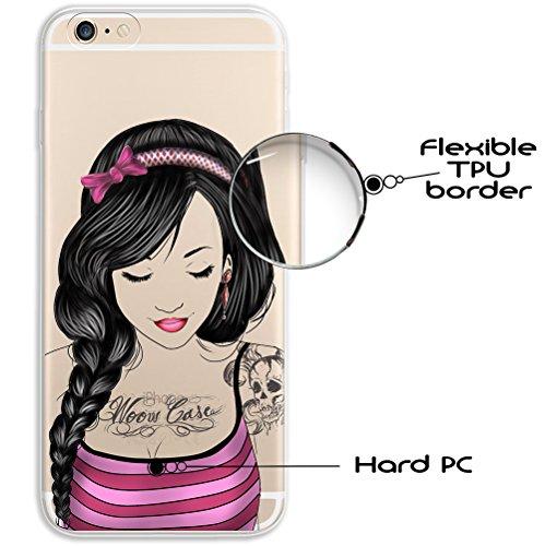 iPhone 6 6S Hülle, WoowCase® [ Hybrid ] Handyhülle PC + Silikon für [ iPhone 6 6S ] Universum Mädchen Mehrfarbig Handytasche Handy Cover Case Schutzhülle - Transparent Hybrid Hülle iPhone 6 6S H0004