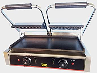 stalwart commercial double panini contact grill 2 x. Black Bedroom Furniture Sets. Home Design Ideas