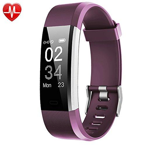 AsiaLONG Fitness Armband mit Pulsmesser - Schrittzähler Uhr Smart Fitness Tracker mit Herzfrequenzmesser, Aktivitätstracker, Schlaf-Monitor, Kalorienzähler, Finden Telefon, Vibrationswecker Anruf SMS SNS Vibration für iOS und Android Handys