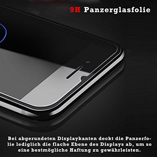 EximMobile - Flip Case Handytasche + Panzerglasfolie für Apple iPhone 5C | Schutzhülle in Gelb | Handyhülle aus PU-Leder Tasche | Cover Etui Hülle mit Panzerglas Schutzfolie Panzerfolie Schwarz