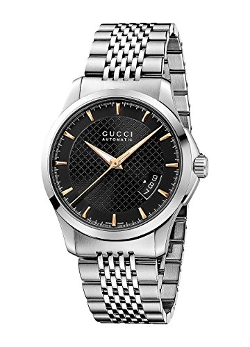Gucci G TIMELESS - Reloj automático para hombre, correa de acero inoxidable color plateado