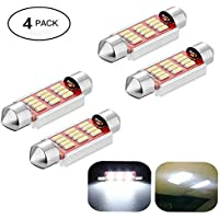 Pack de 4luces para coche, de LED, blancas, 36–41mm, libre de errores festón, 4014Canbus, de cúpula, de lectura, luz de matrícula, de Haichen