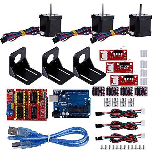 Cnc 3d Printer,Kit per stampante 3D CNC per Arduino +4 Kit di accessori per stampante 3D per accoppiamento