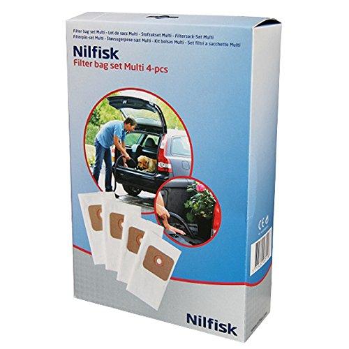 Nilfisk authentique Multi 2020T 30T Aspirateur Sacs à poussière (lot de 4)