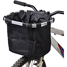 Docooler Cesta de Lona Frontal Desmontable de Bicicleta Marco de la Aleación de Aluminio del Bolso
