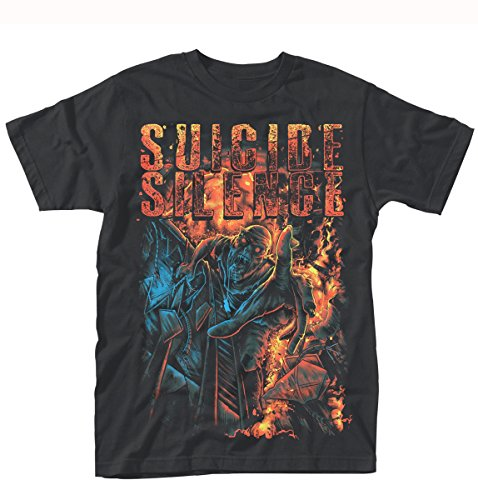 Suicide Silence Zombie Angst TS Schwarz XXL