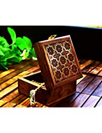 7832a84661db Hashcart - Joyero artesanal de estilo indio de madera