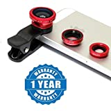 Esportic Apple IPhone 7 Compatible 3 In 1 Lens Kit Clip Fish-Eye + Wide Angle + Macro Lens Set With Telescope 8X Telephone Optical Zoom Camera Lens For All Smart Device