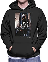 Lawrence Watson Official Photography - Public Enemy Flavor Flav Chuck D On Steps Men's Hooded Sweatshirt