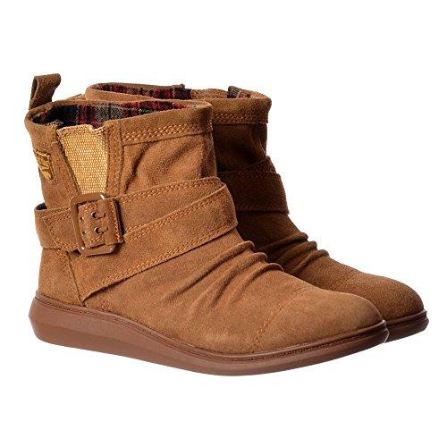 Menta Camoscio Ankle Boot - Nero Pelle Scamosciata, Marrone Camoscio Rocket Dog Donna Castagno