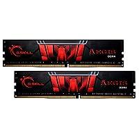 G.Skill 16GB (2 x 8GB) Aegis DDR4 PC4-24000 3000 ميجا هرتز لIntel Z170 Platform Memory Desktop Memory Model F4-3000C16D-16GISB