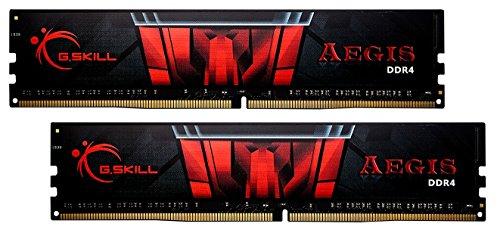16GB G.Skill DDR4 Aegis 2400MH4z PC4-19200 CL17 Dual Channel Memory Kit (2x8GB) (Entry-level-desktop-pc)