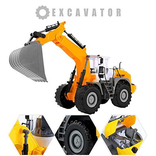 RC Auto kaufen Baufahrzeug Bild 3: RC ferngesteuerter bagger kinder Baufahrzeug für Kinder ab 3 Jahren Spielzeugauto Kranwagen Bulldozer Bagger Kinder*