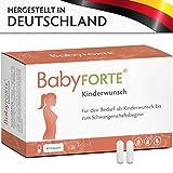 BabyFORTE Kinderwunsch • 60 Kapseln • 800 mcg Folsäure, Eisen, Jod & weitere Vitamine • Kinderwunschvitamine, Schwangerschaft • Vegan