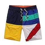 KENTONG HILL Männer Geometrische Matching Color Board Shorts Strand Trunks