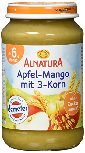 Alnatura Apfel Mango+3Korn, 6er Pack (6 x 190 g)