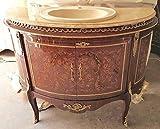 LouisXV Barock Tisch Bad Möbel Badezimmer Wasch Becken MkBa0027 Antik Stil Massivholz. Replizierte Antiquitäten Buche Antikmessing.