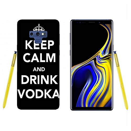 Hülle Galaxy Note 9 Case Samsung Galaxy Note 9 Lustige Sätze Haltet Kalm und trinkt Wodka / Cover Druck auch an den Seiten / Anti-Rutsch Anti-Rutsch Anti-Scratch Schock-resistenten Schutz Schutzulle Starre