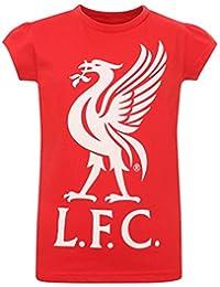 Liverpool FC LFC Girls Red Liverbird T-Shirt NWT Official