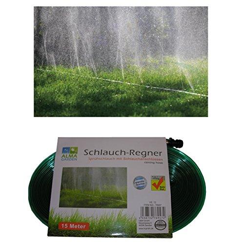 Garten-Bewässerung Schlauch-Regner 15m Gartenschlauch Beregnung Sprühschlauch