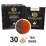 VAHDAM, Maharaja English Breakfast Tea (30 Teebeutel) | Schwarzer Tee Teebeutel | 100% NATÜRLICH Stark, Reich & Geschmackvoll English Tea | Gemischt & aus Indien Geliefert | Brühen als Heißen Tee oder Eistee | 15 Schwarztee Teebeutel (2er Pack)