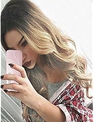 Tsnomore Nouveau populaire long corps ondulé noir à blonde ombre perruque femmes