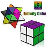 PROACC Cube Puzzle, Kids 2 IN 1 Magic Star Infinite 3D Cube, Stress Anxiety Relief Toys, Travel Party Child Creative Gift With Box
