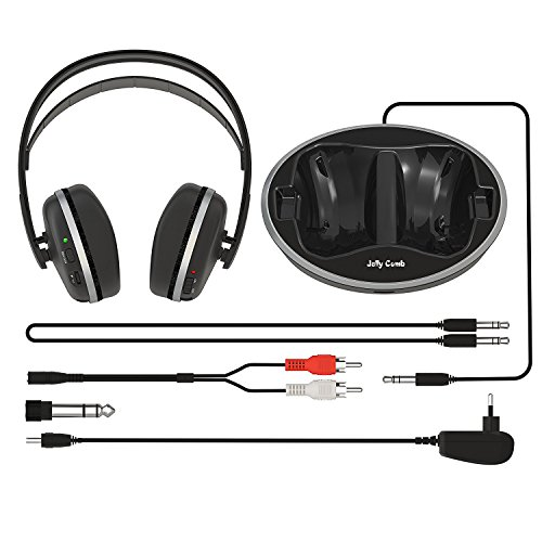 TV Funk Kopfhörer, Jelly Comb Funkkopfhörer mit Lautstärke-Regler, Multifunktions-Ladestation für TV und alle Ihre Multimedia-Gerät - 9