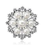 DDLKK Mode Perle Brosche Pins Legierung Überzug Strass Diamant Perlen Für Handwerk Broschen und Pins für Frauen Frauen Modeschmuck Elegante Brosche Pins für Kleidung Multicolor, B