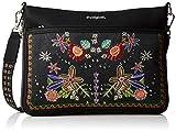 Desigual Bag Candem Formigal Women, Sacs bandoulière femme, Noir (Negro), 2x23x30.5 cm (B x H T)