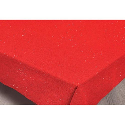 Soleil d'Ocre Nappe Rectangle, Polyester, Rouge, 140x240 cm