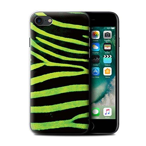 Stuff4 Hülle / Case für Apple iPhone 7 / Schwarz/Weiß Muster / Zebra Tier Haut/Print Kollektion Grün
