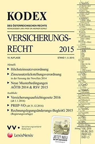 KODEX Versicherungsrecht 2015