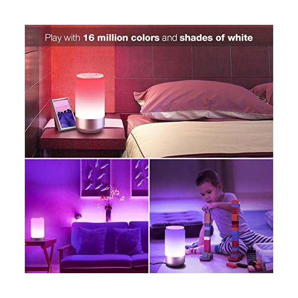 LE Lampada da Comodino Touch Intelligente WiFi, Compatibile con Alexa e Google Home, Luce Notturna 16 Milioni RGB e… 4 spesavip