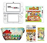 Animal Crossing Happy Home Designer Beginners Special value set (New Nintendo 3DS XL Pearl White &Animal Crossing Happy Home Designer & pouch & mini-album &amiibo card the 1th series) Japanese vr. by Nintendo