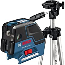 Bosch GCL 25 Professional - Nivelador láser (60 h, 1.5 V, 56 mm, 155 mm, 118 mm) Negro, Azul