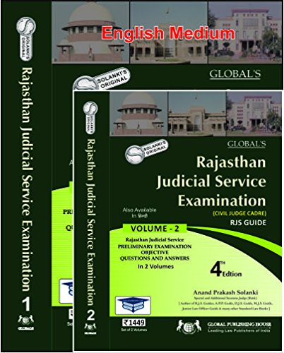 Rajasthan Judicial Services Examination Preliminary Examination Objective Questions and Answers (Volume 1, 2 ) MR Rs 1449. ed 2017-18