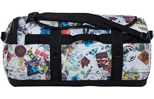 The North Face - Base Camp - Sac de Sport - Mixte Adulte - Multicolore (Tnf Red Sticker Print/Tnf Black) - Taille Medium