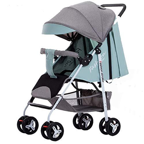 WEHQ Buggy mit Liegeposition bis 25 Kg,Kinderwagen Leichte,Travel Buggy, Kompakt,Einhand-Faltmechanismus,mit Sonnenverdeck Regenverdeck,5-Punkt-Sicherheitsgurt,füR Jungen und MäDchen
