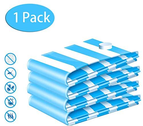 BETECK 1 Stück Vakuumbeutel, 80x60 Vakuum Aufbewahrungsbeutel Reise Vakuum Kleiderbeutel für Kleidung Bettdecken Bettwäsche Kissen Wolldecken Vorhänge