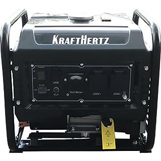 Groupe électrogène Inverter de KRAFTHERTZ®, 3000-5500 Watt, 1 Phase, connexions USB, Chargeur intelligent