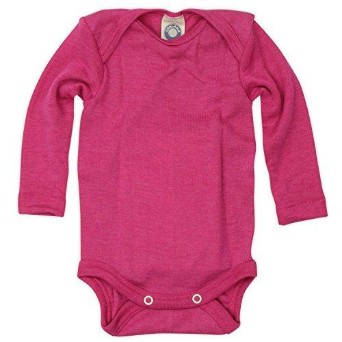 Cosilana - Baby Body 1/1 Arm, 62/68, Pep-Pink, 70% Schurwolle kbT, 30% Seide, Angebot von Wollbody - Nhos Service und Vertriebs GmbH