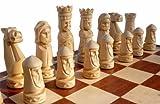 ChessEbook Edles Schachspiel CASTLE 56 x 56 cm Holz, Handgeschnitzt
