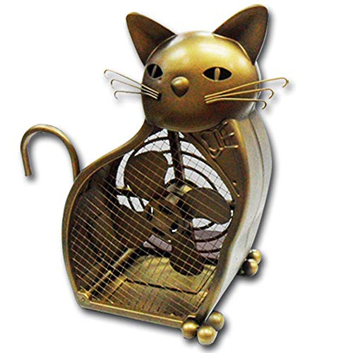 FISHTEC  Katzenventilator, dekorativ, funktioniert mit 3 AA-Batterien
