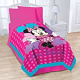 Disney Exploded Hearts Blanket, Minnie