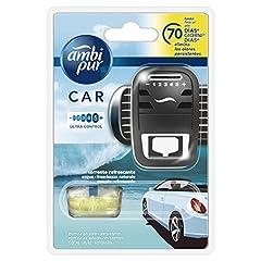 Idea Regalo - Ambi Pur Car Deodorante per Auto, Starter Kit, Acqua – Freschezza Naturale, 7 ml